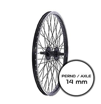 "BIKE RIDEWILL rueda trasera de bicicleta Bmx 20"" pivote 14 mm negro (ruedas Bmx"