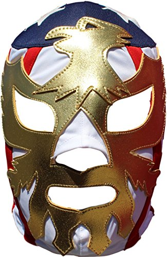 Deportes Martinez Patriot America Lycra Lucha Libre Luchador Mask Adult Size Golden