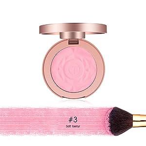 Ofanyia Natural Baked Blush With Brush, Professional Makeup Powder Blush, 0.24 Ounce