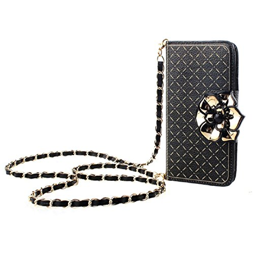 Tonsee Shine Flower Wallet Leather Case + Straps For iPhone 6
