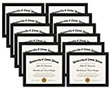 Americanflat 12 Pack - Document Frame - Made to Display Certificates 8.5x11 Inch - Document Frames, Certificate Frames, Standard Paper Frame