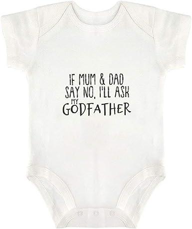 Will You Be My Godfather Girls Funny Babygrow Baby vest Bodysuit Gift