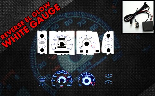 Glow White Face Reverse Gauges - 7