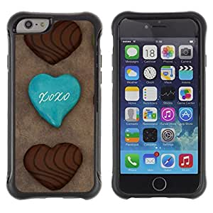 Suave TPU Caso Carcasa de Caucho Funda para Apple Iphone 6 PLUS 5.5 / Cookie Chocolatae Sugar Sweets Cafe / STRONG
