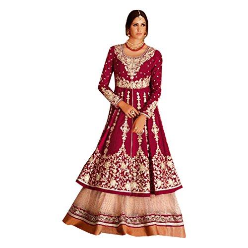 De Novia 2738 Emporium Ethnic Emproum Del Vestido Salwar Medir Kameez Mujeres Étnica Étnico Las Desgaste Personalizado Seda Anarkali Tradicional Para 4HHwPv