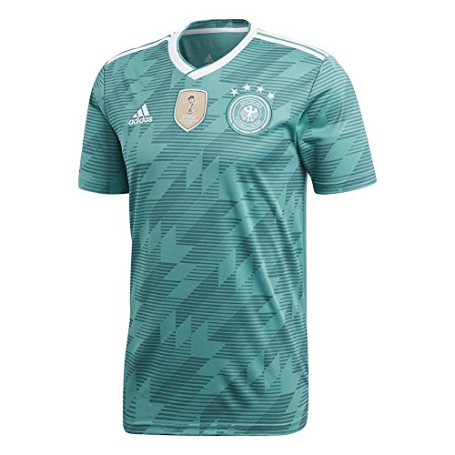 773ffa54d1c adidas Men s 2018 Germany Away Jersey EQT Green White Real Teal Large