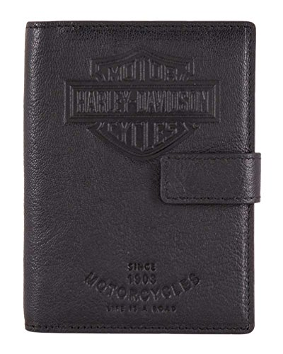 Harley-Davidson Bar & Shield Classic Passport Wallet, Genuine Leather HDMWA11490