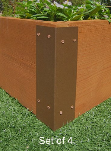Raised Garden Bed Corner Brackets - For 12''H Beds by Gardens To Gro