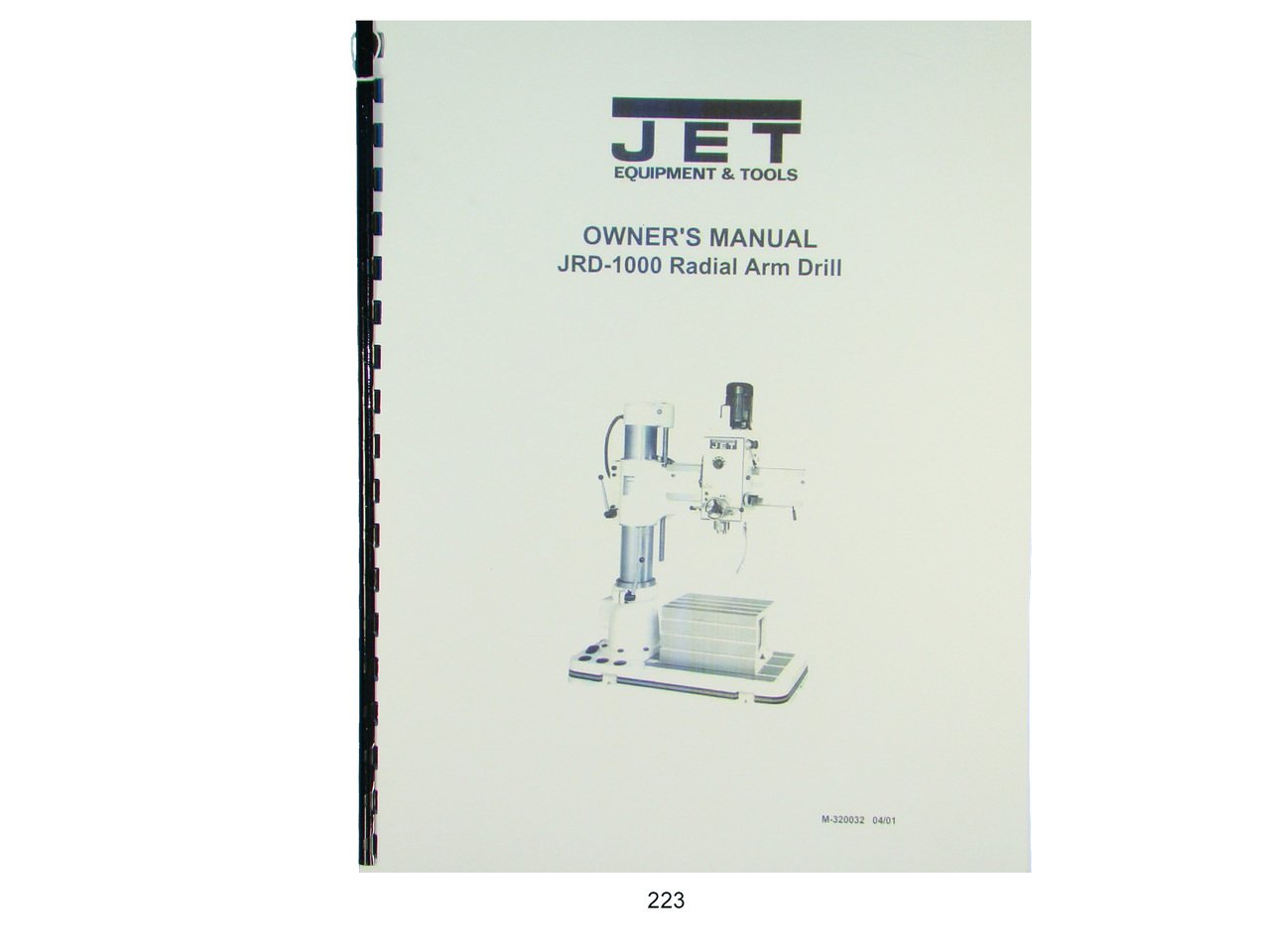 Jet JRD-1000 Radial Arm Drill Press Owners Manual: Jet: Amazon.com: Books