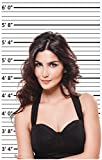Height Chart Backdrop ROLL - Photo Booth Mug Shots Poster ROLL, No Lines When you Unroll the Poster - 2 by 4 Feet (24 x 48 inches)