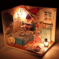New Hoomeda Summer Romance DIY Wood Dollhouse Miniature With LED Furniture Cover By KTOY