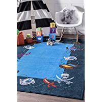 nuLOOM 200MCGZ20A-3305 Pirate Playtime Rug Area, 3 3 x 5