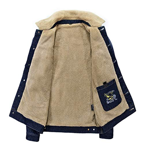 Heheja Maniche Inverno Lunghe Giubbotto Giacca Blu Tempo Jeans Cappotto Uomo Retro Di Libero X5rqXwR