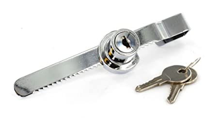 Chrome sliding glass door cabinet lock with 2 keys key amazon chrome sliding glass door cabinet lock with 2 keys key planetlyrics Gallery