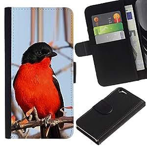 iBinBang / Flip Funda de Cuero Case Cover - Negro Invierno Naturaleza Rama de árbol - Apple Iphone 6 4.7