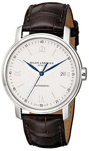 Baume-Mercier-Mens-8791-Classima-Automatic-Leather-Strap-Watch