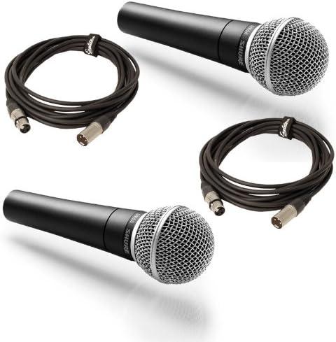 Shure Pack Double SM58 + Cables XLR Micrófono con cable para ...
