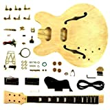 Stellah Electric Guitar DIY Kit Project GK-SES-30 Hollow Body Left Hand