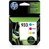 HP 933 Cyan, Magenta & Yellow Original Ink Cartridges, 3 Cartridges (CN058AN, CN059AN,CN060AN) for HP Officejet 6100 6600 6700 7110 7510 7610 7612