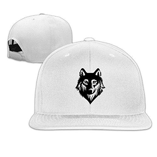 YP Men' S Wolf Cartoon Animal Sketch Trucker Hat White One Size