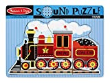 Melissa & Doug Train Sound Puzzle - Wooden Peg Puzzle With Sound Effects (9 pcs)