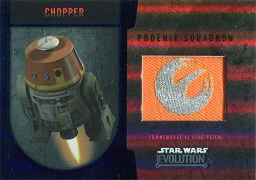(Star Wars Evolution 2016 Flag Patch Phoenix Squadron Chopper Silver 47/50)