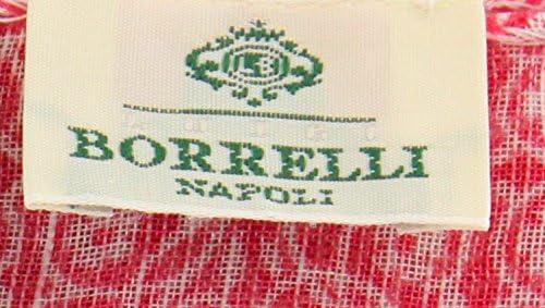 New Luigi Borrelli Pink Linen Blend Scarf