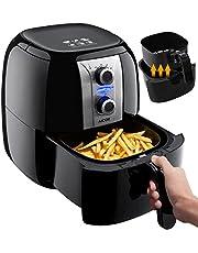 Aicok Friggitrice Ad Aria Calda, Friggitrice Senza Olio, Temperatura e ora Regolabili,  Low-oil e Multicooker 3,5 Liter, 1400W, BPA Free