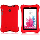 Bolete LG G Pad 7.0 EVA Case – Ultra Light Weight Shock Proof Convertible Kids Friendly for LG G Pad V410 (LTE) / V400 / VK410 / UK410 (G Pad F7.0) 7-Inch Android Tablet(Red)