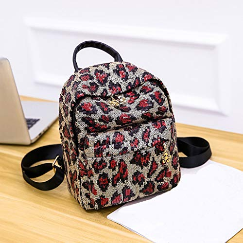 7830d3deaba0 Amazon.com : Women Backpack JIUDASG Girl Sequin Leopard Print School ...