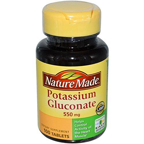 Potassium Gluconate 550 Mg Tablets - Nature Made, Potassium Gluconate, 550 mg, 100 Tablets - 2pc