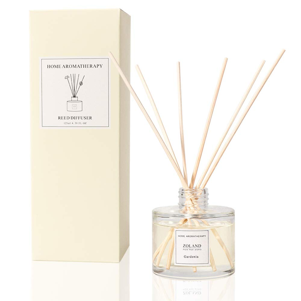 TIYOLE Reed Diffuser Sticks Aromatic Stress Relief Sandalwood Diffuser Room Diffusers with Sticks (Gardenia)