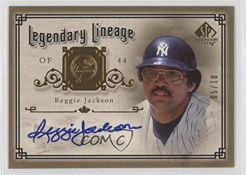 Reggie Jackson #5/10 (Baseball Card) 2005 SP Legendary Cuts - Legendary Lineage - Gold Autographs [Autographed] #LE-RJ