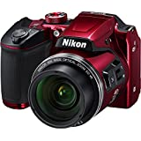 Nikon Coolpix B500 Wi-Fi Digital Camera (Red) - (Certified Refurbished)
