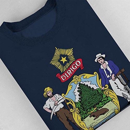 Coto7 Coto7 Maine Navy State State State Women's Blue Flag Sweatshirt v7wnUv1xqd