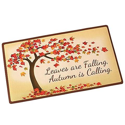 Fall Tree Leaves Door Mat - Color Door Mat