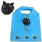 Eco Travel Foldable Handbag Grocery Tote Storage Reusable Animal Shopping Bag (Cat)