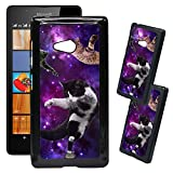 [TeleSkins] - Microsoft Lumia 540 Designer Plastic Case - Cats Flying Space Hipster Triangles - Ultra Durable HARD PLASTIC Protective Snap On Back Case / Cover for Microsoft Lumia 540.