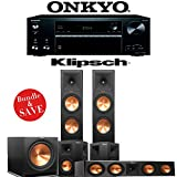 Klipsch RP-280F 5.1-Ch Reference Premiere Home Theater System with Onkyo TX-NR676 7.2-Ch 4K Network AV Receiver
