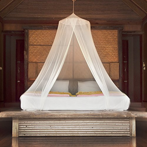 hanging mosquito net for beds round mosquito net canopy for camping glamping baby boho. Black Bedroom Furniture Sets. Home Design Ideas