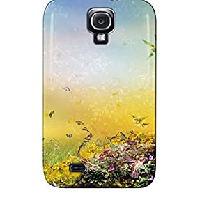 Scratch-free Silver Lovely Mother Nature Abstract Protective Hard Case For Sumsang Galaxy S4