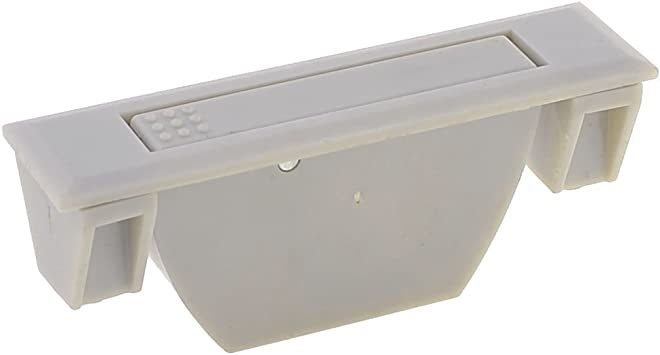 Rectangular Gris claro plástico tirador para cristal para puertas y ventanas: Amazon.es: Bricolaje y herramientas