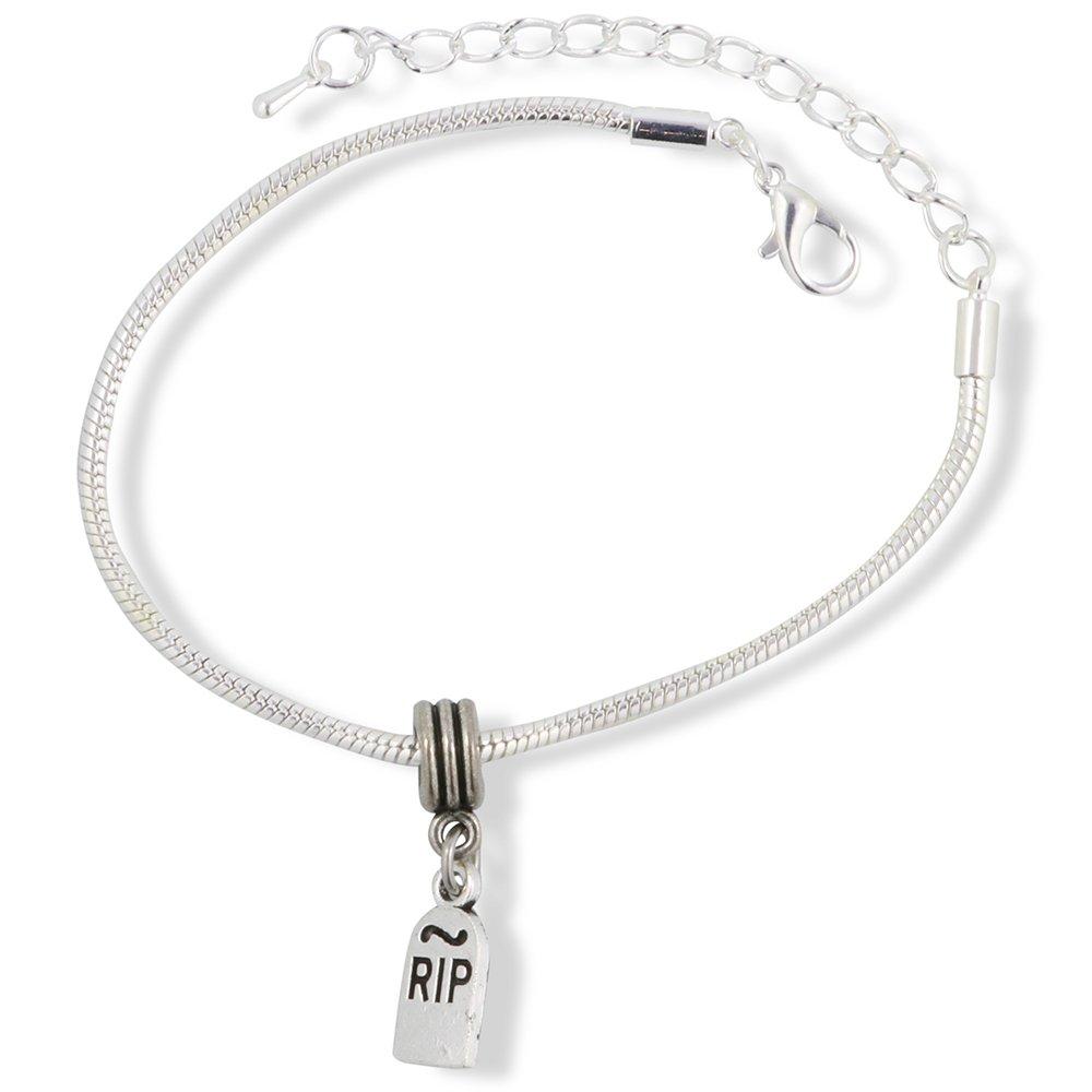 Emerald Park Jewelry RIP Snake Chain Charm Bracelet