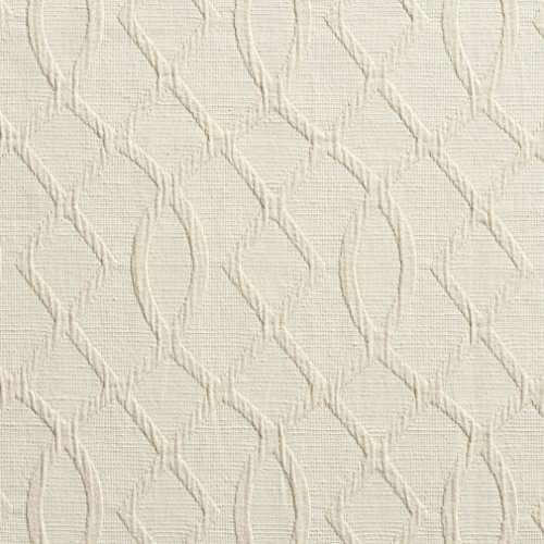 B0030B Cream Lattice Woven Contemporary Upholstery Fabric By The ()