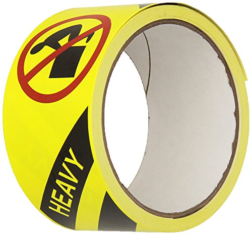 """TapeCase Shipping Packing Labels""""Heavy"""", Yellow/Red/Black - 50 per Pack (1 Pack) from TapeCase"""
