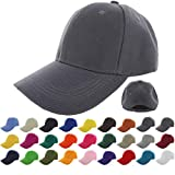 #5: KANGORA Plain Baseball Cap Adjustable Men Women Unisex | Classic 6-Panel Hat | Outdoor Sports Wear (20+Colors)