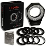 Fotodiox LED 48A Macro Extension Kit, Includes 8x49-77mm P-Style Filter Thread Rings, Canon EOS Macro Extension Tube