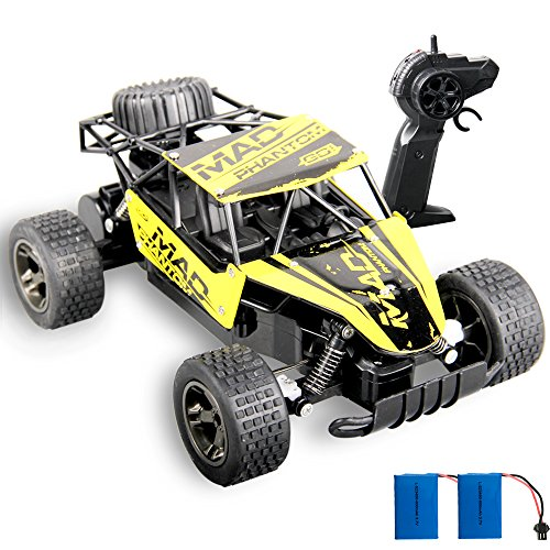 Remote Control Car,GMAXT For 1:18 Scale Rc Car,18km/h Radio Control Racing,Turbo Challenge and 2 Rechargeable Batterie