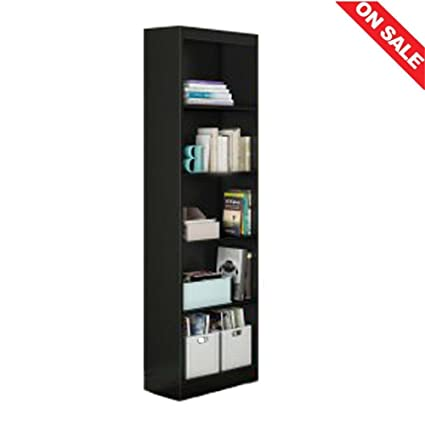 Amazoncom Tall Open Bookcase Corner Narrow Frame Open Shelves
