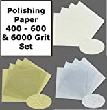 Polishing Papers for Metal Clay 400 600 8000 Grit Assortment